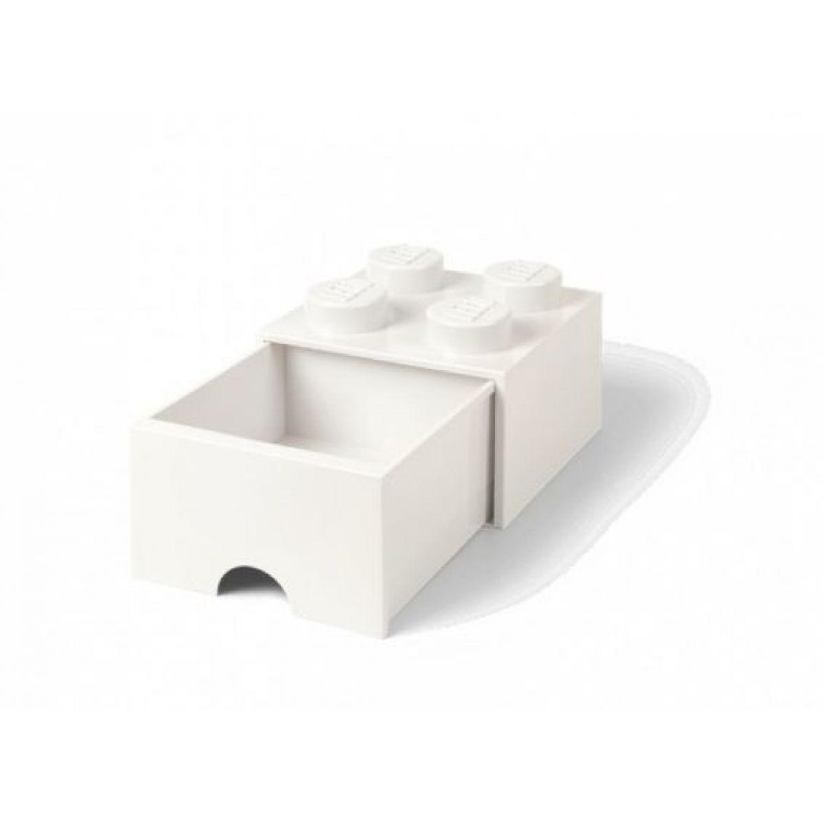 LEGO úložný box 4 s šuplíkem - Bílá
