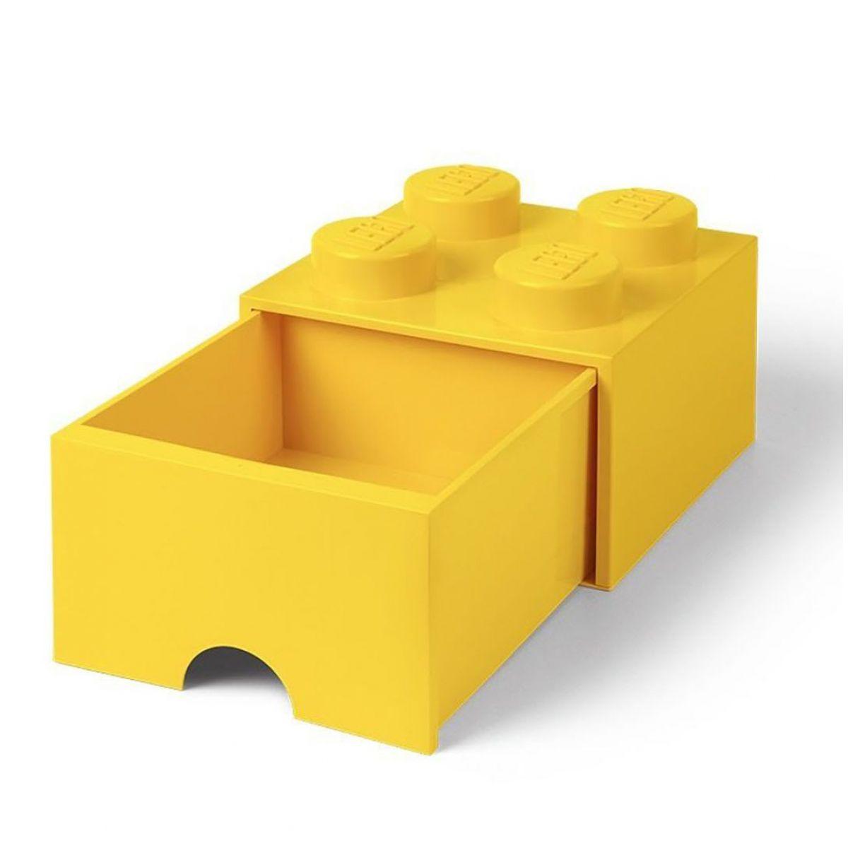 LEGO úložný box 4 s šuplíkem - žlutá