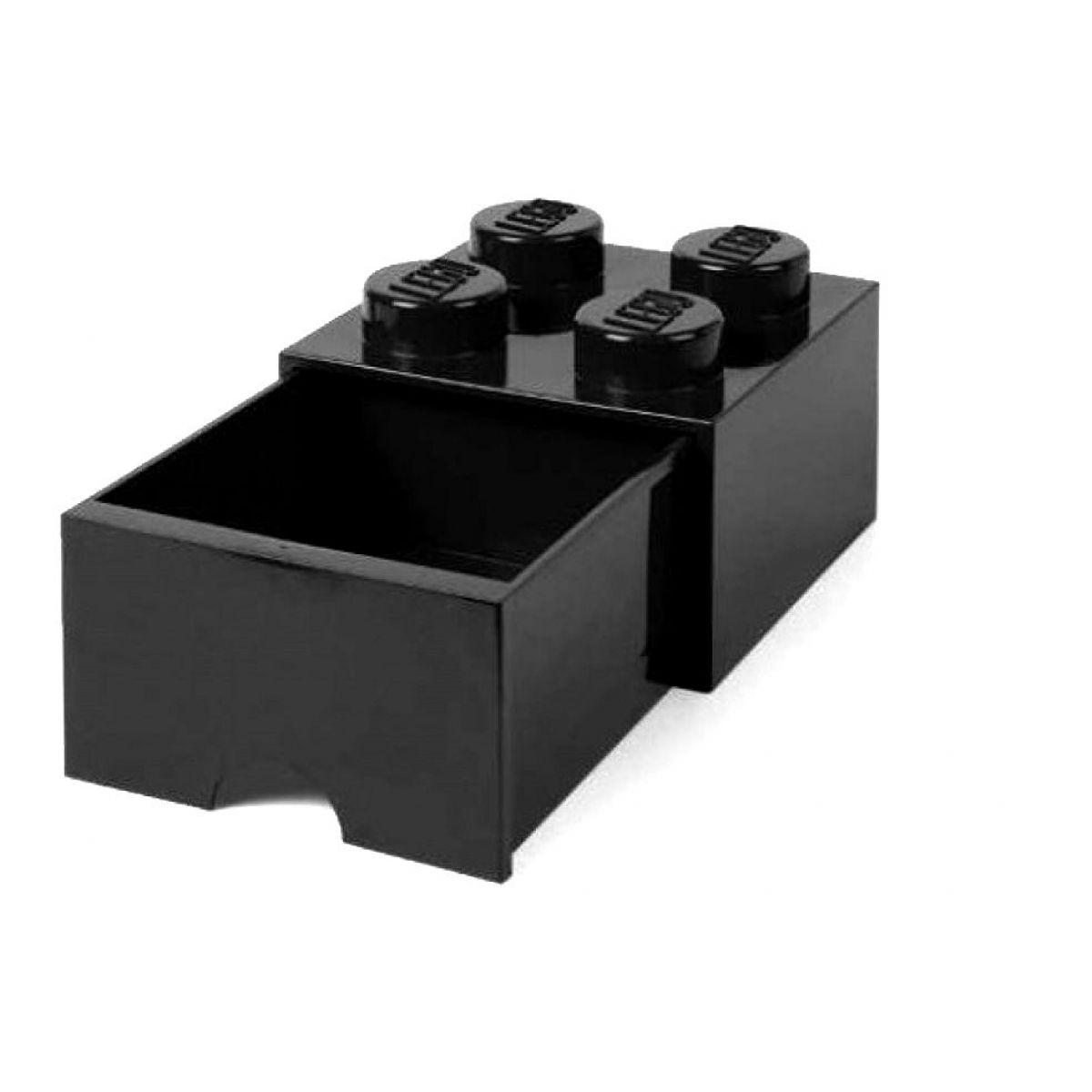 LEGO úložný box 4 s šuplíkem černá