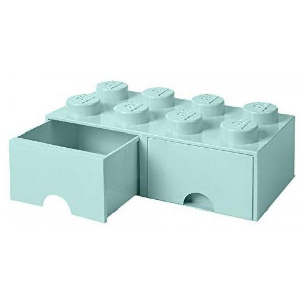 LEGO úložný box 8 s šuplíky - aqua
