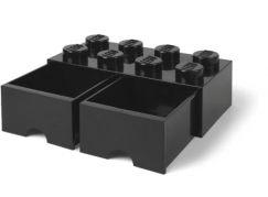 LEGO Úložný box 8 s šuplíky - černá
