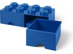 LEGO Úložný box 8 s šuplíky - modrá