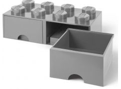 LEGO Úložný box 8 s šuplíky - šedá