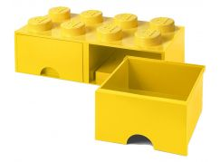 LEGO Úložný box 8 s šuplíky - žlutá