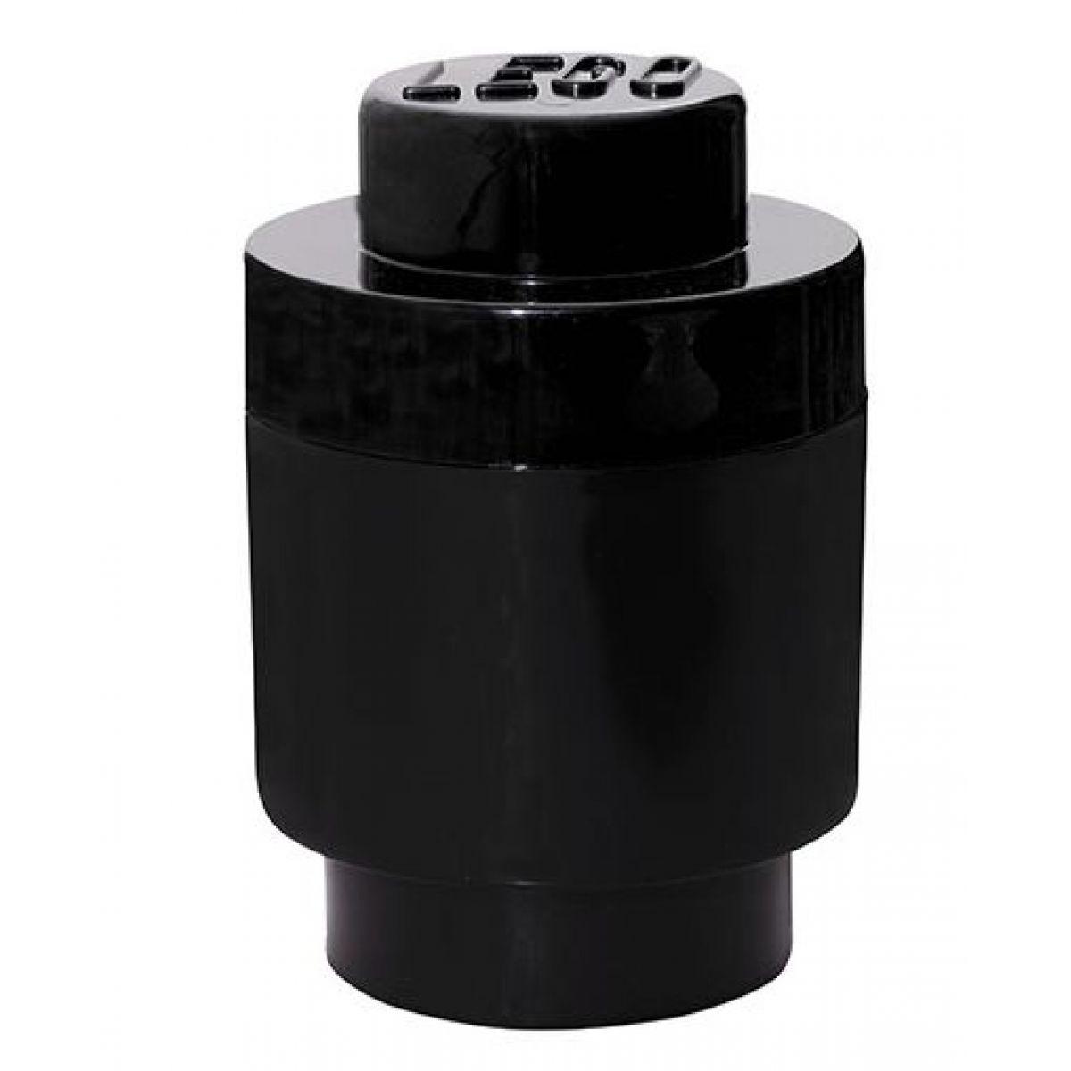 LEGO Úložný box kulatý 12,5x18cm černá