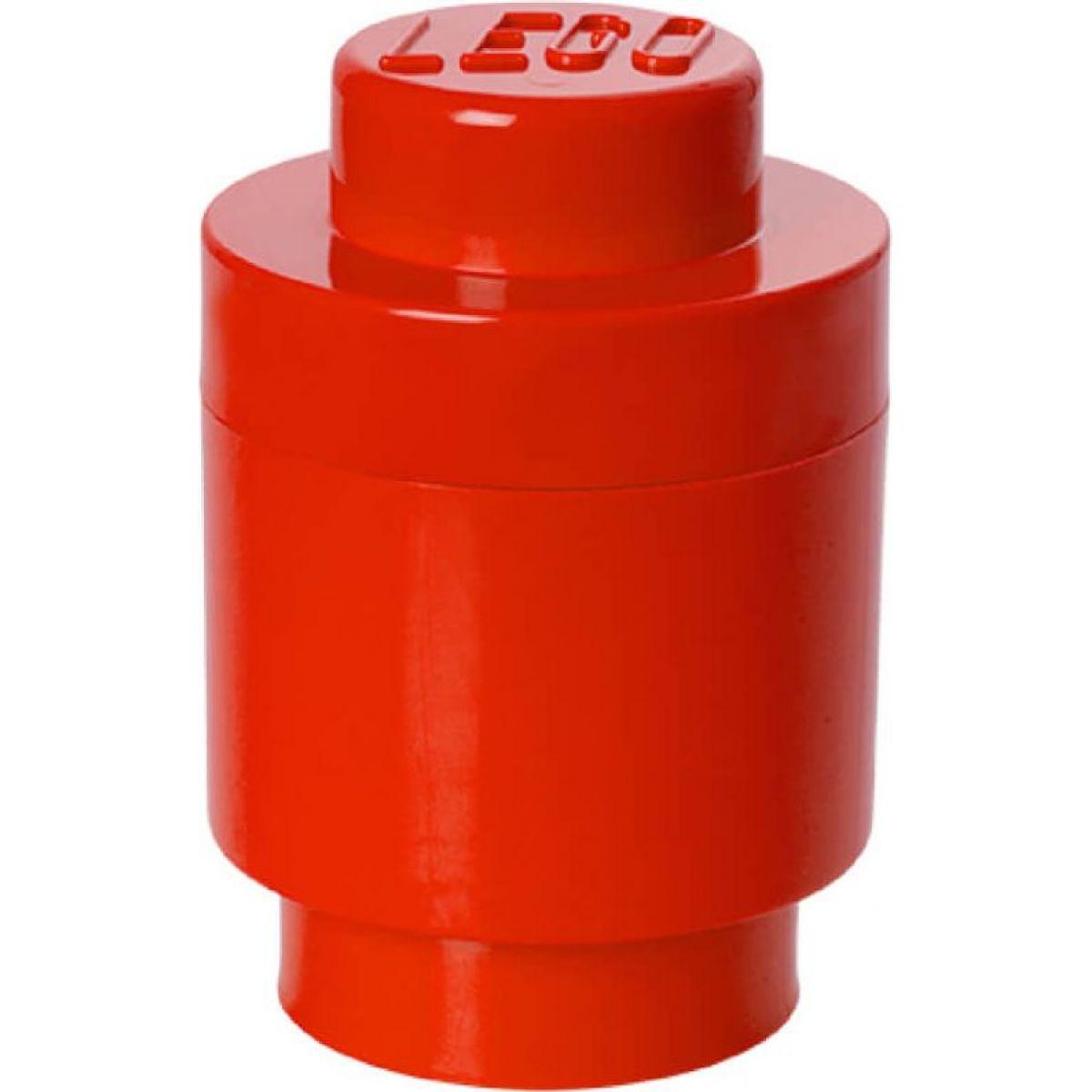 LEGO Úložný box kulatý 12,5x18cm Červená