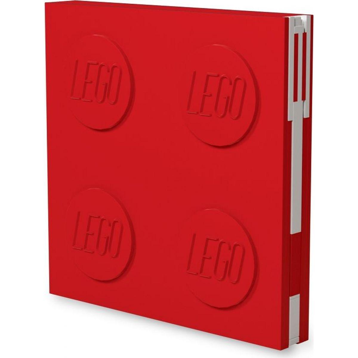 LEGO® 2.0 Zápisník s gelovým perem jako klipem - červený