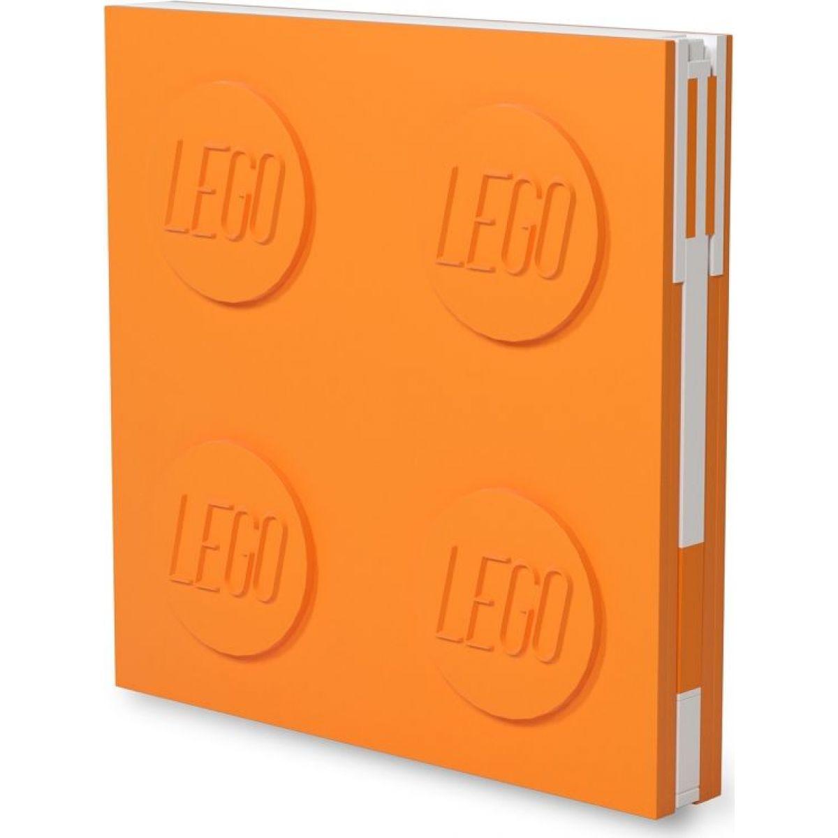 LEGO® 2.0 Zápisník s gelovým perem jako klipem - oranžový