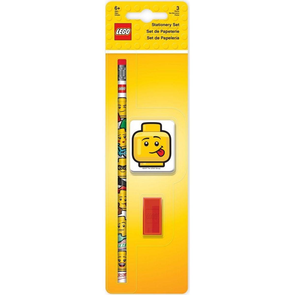 LEGO® Iconic Stationery Set tužka, ořezávátko, guma