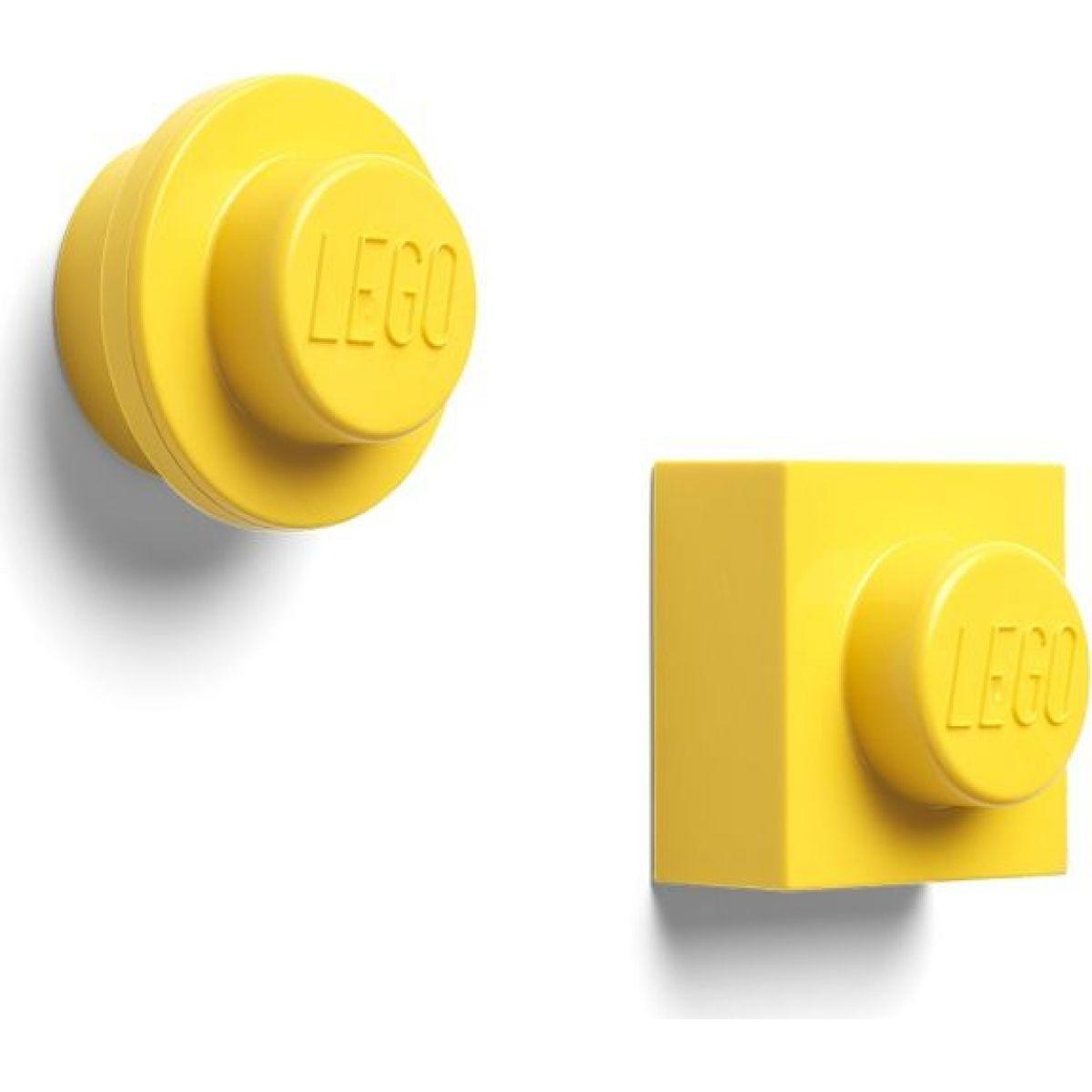 LEGO® magnetky, set 2 ks - žlutá