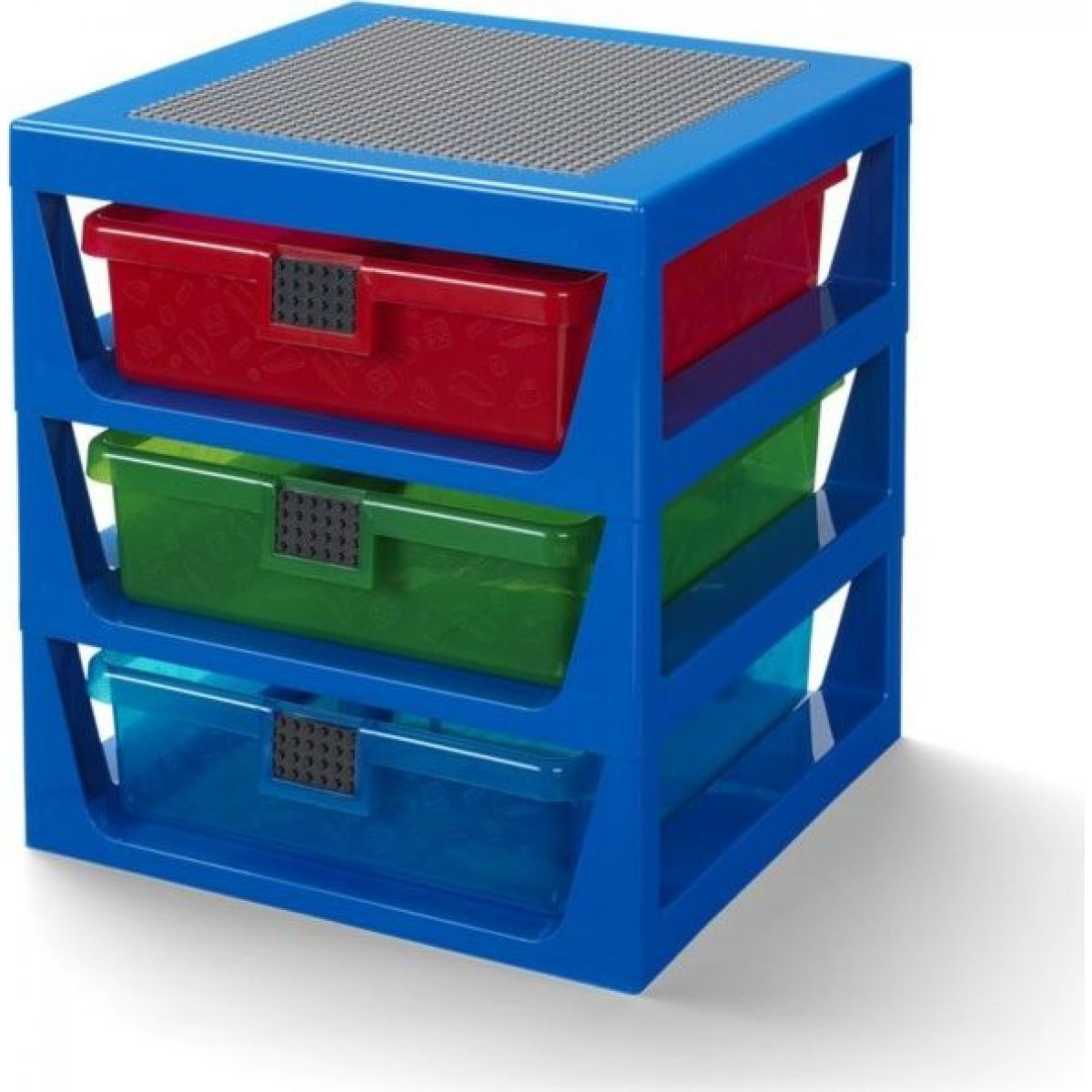 LEGO® organizér se třemi zásuvkami - modrá