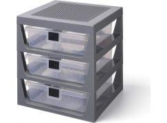 LEGO® organizér se třemi zásuvkami tmavě šedá