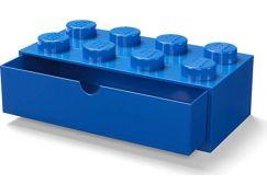 LEGO® stolní box 8 se šuplíky - modrá