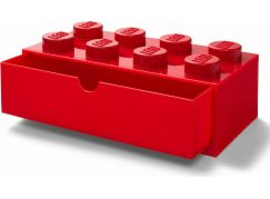 LEGO® stolní box 8 se zásuvkou - červená