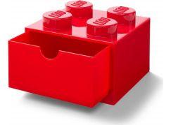 LEGO® úložný box 4 se šuplíky - červená