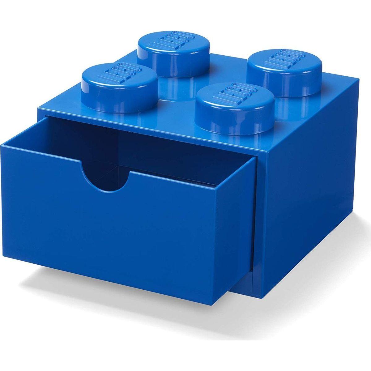 LEGO® úložný box 4 se šuplíky - modrá