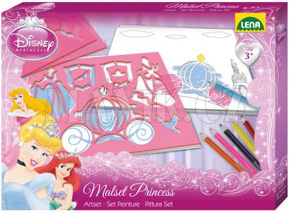 Lena Disney Princess Kreslící šablonky Princezny a malovací sada