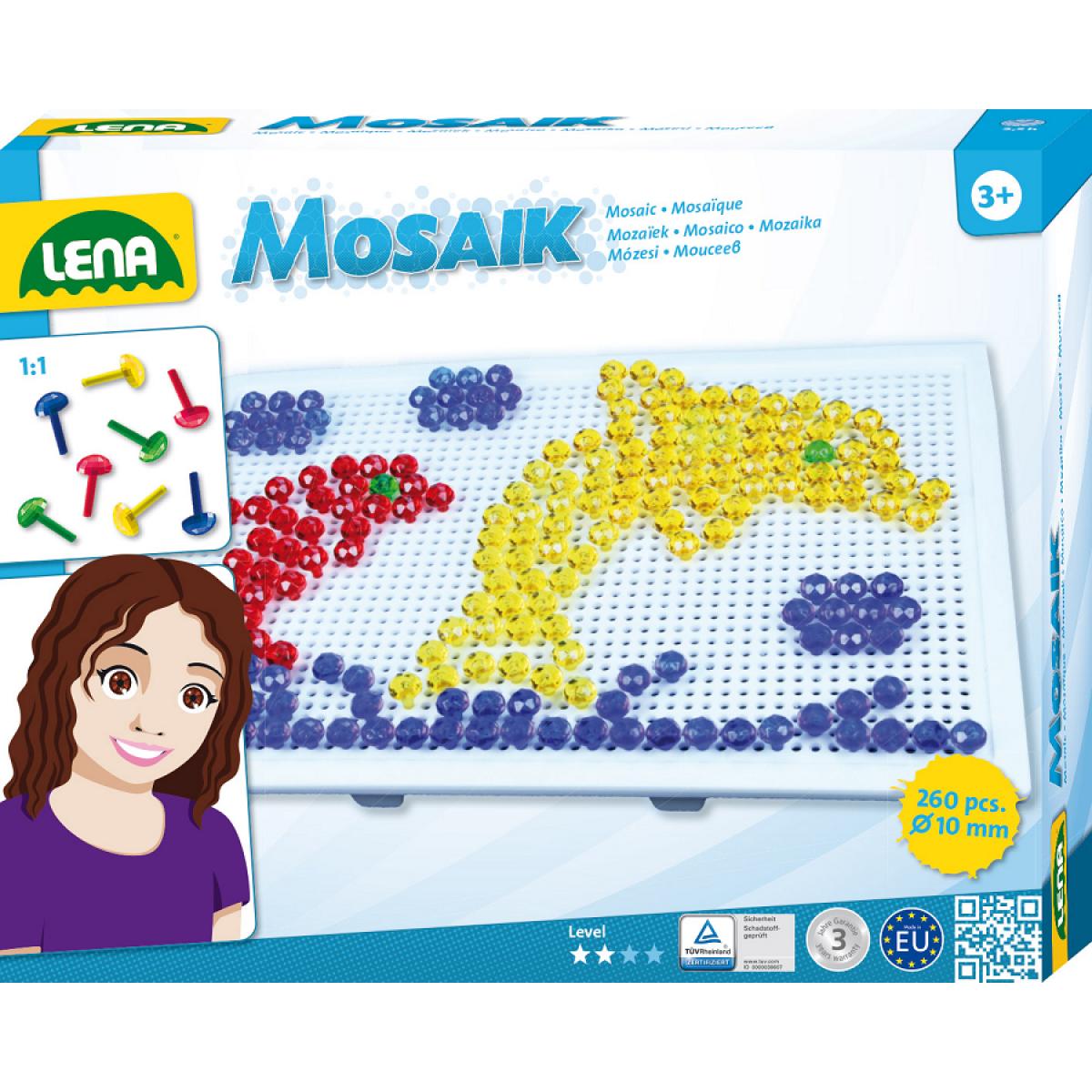 Lena Mozaika velká 260ks klobouček 10mm krystal