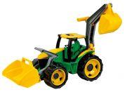 Lena Traktor se lžíci a bagrem zeleno žlutý