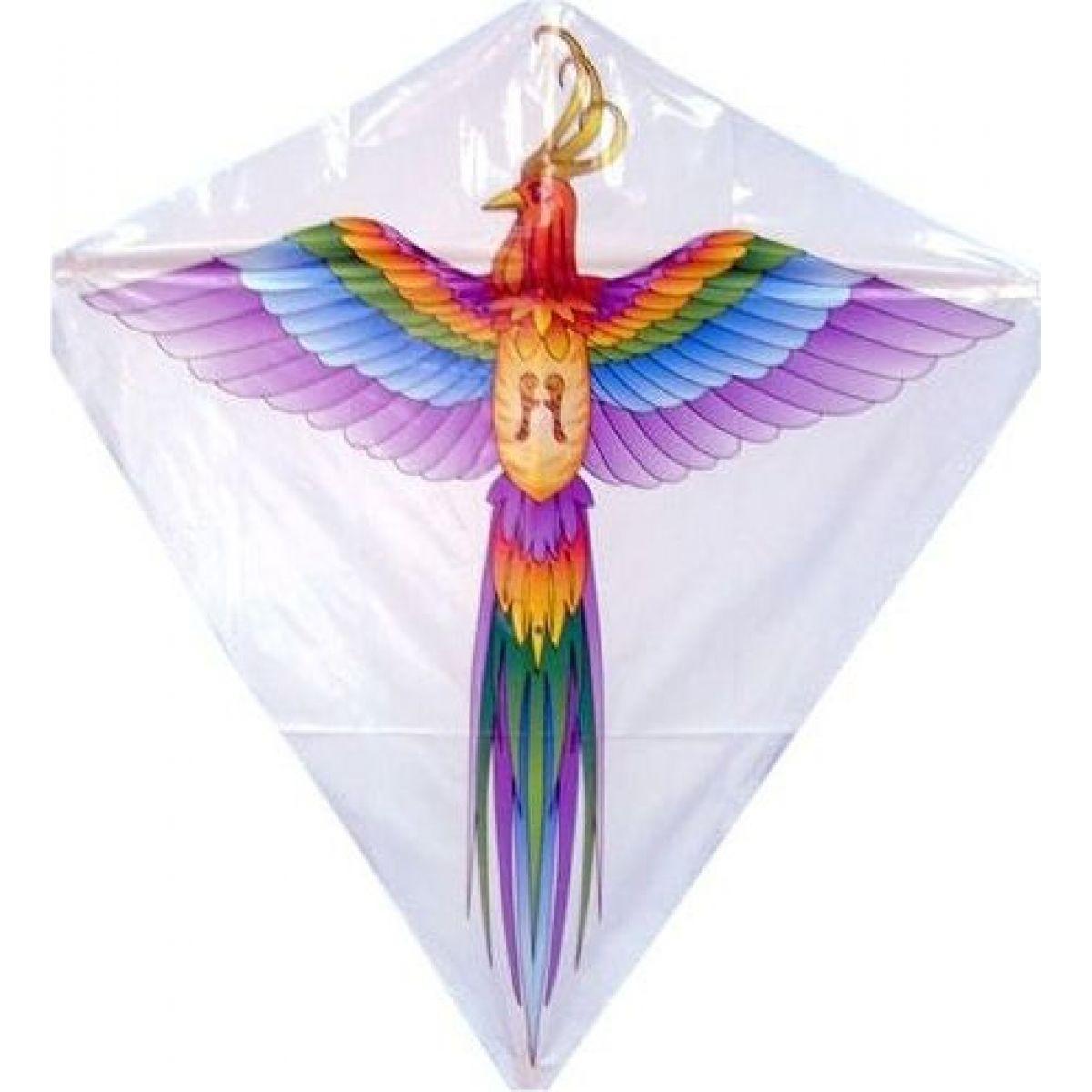 Létající drak 60 x 66 cm páv