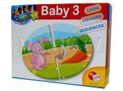Lisciani Giochi Baby Genius Baby skládačka 3v1 - Co zvířátka jedí?