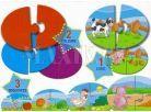 Lisciani Giochi Baby Genius Baby skládačka 3v1 - Co zvířátka jedí? 2