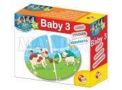 Lisciani Giochi Baby Genius Baby skládačka 3v1 - Mláďata a rodiče