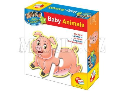 Lisciani Giochi Baby genius Zvířátka tvarovaná - Farma
