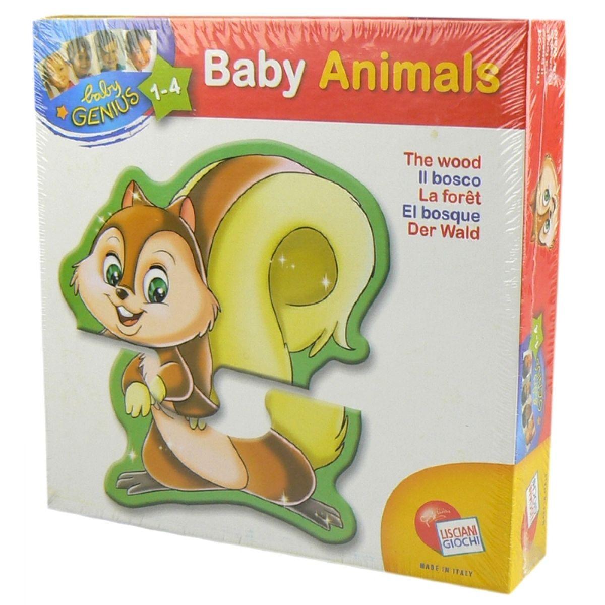 Lisciani Giochi Baby genius Zvířátka tvarovaná - Lesní