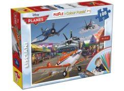 Lisciani Giochi Planes Puzzle 2v1 108 dílků