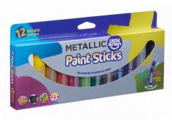 Little Brian Paint Sticks metalické barvy 12-pack