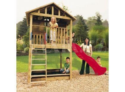 Little Tikes Dřevěný domeček se skluzavkou Hampton