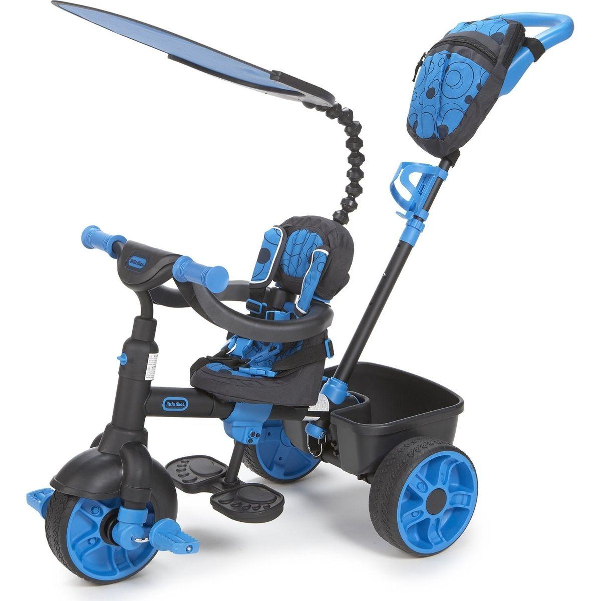 Little Tikes Tříkolka 4v1 Deluxe Neonová modrá - Poškozený obal