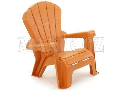 Little Tikes Zahradní židlička oranžová