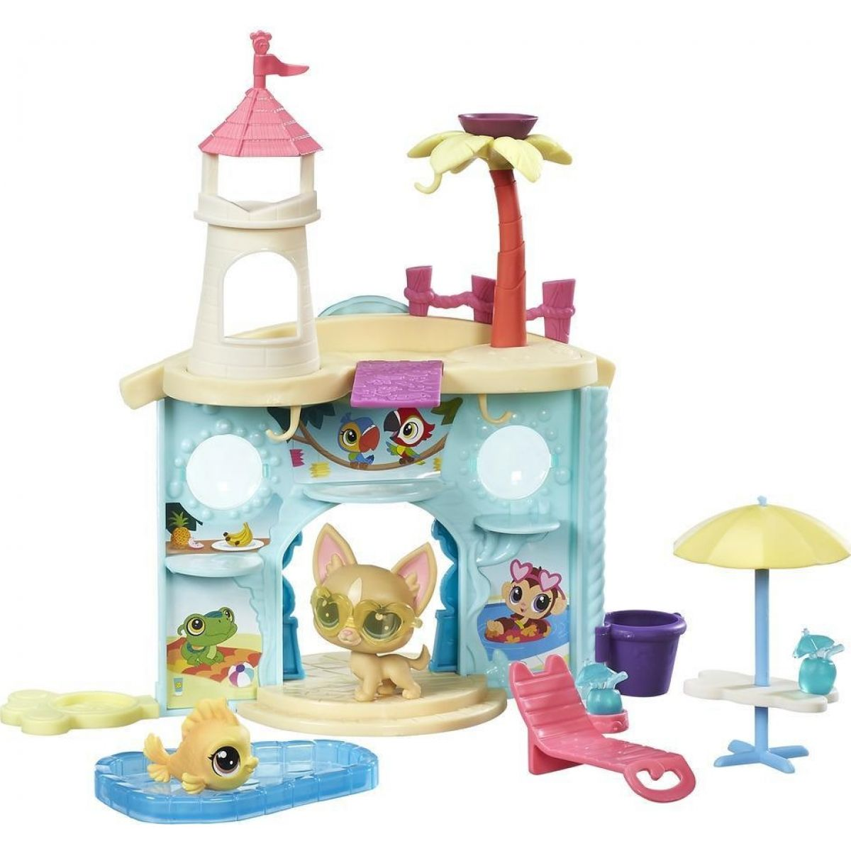 Littlest Pet Shop Hrací set se 2 zvířátky Splash Park Party
