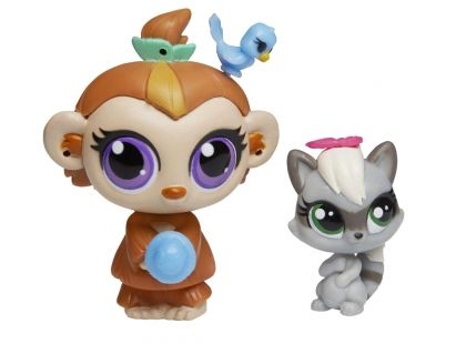 Littlest Pet Shop Maminka s miminkem - A8424 Opička a mýval