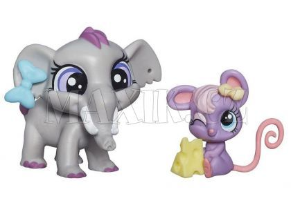 Littlest Pet Shop Maminka s miminkem - B0101 Fletcher von Trunk a Teensie Fromage