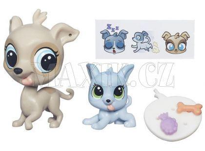 Littlest Pet Shop Maminka s miminkem - B4765 Fleetly Greycloud a Loopy Greycloud