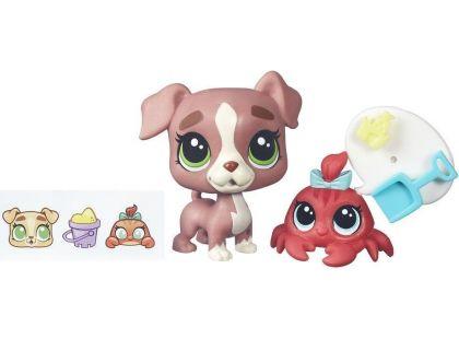 Littlest Pet Shop Maminka s miminkem B5686 Calla Boxton a Blossom Clawson