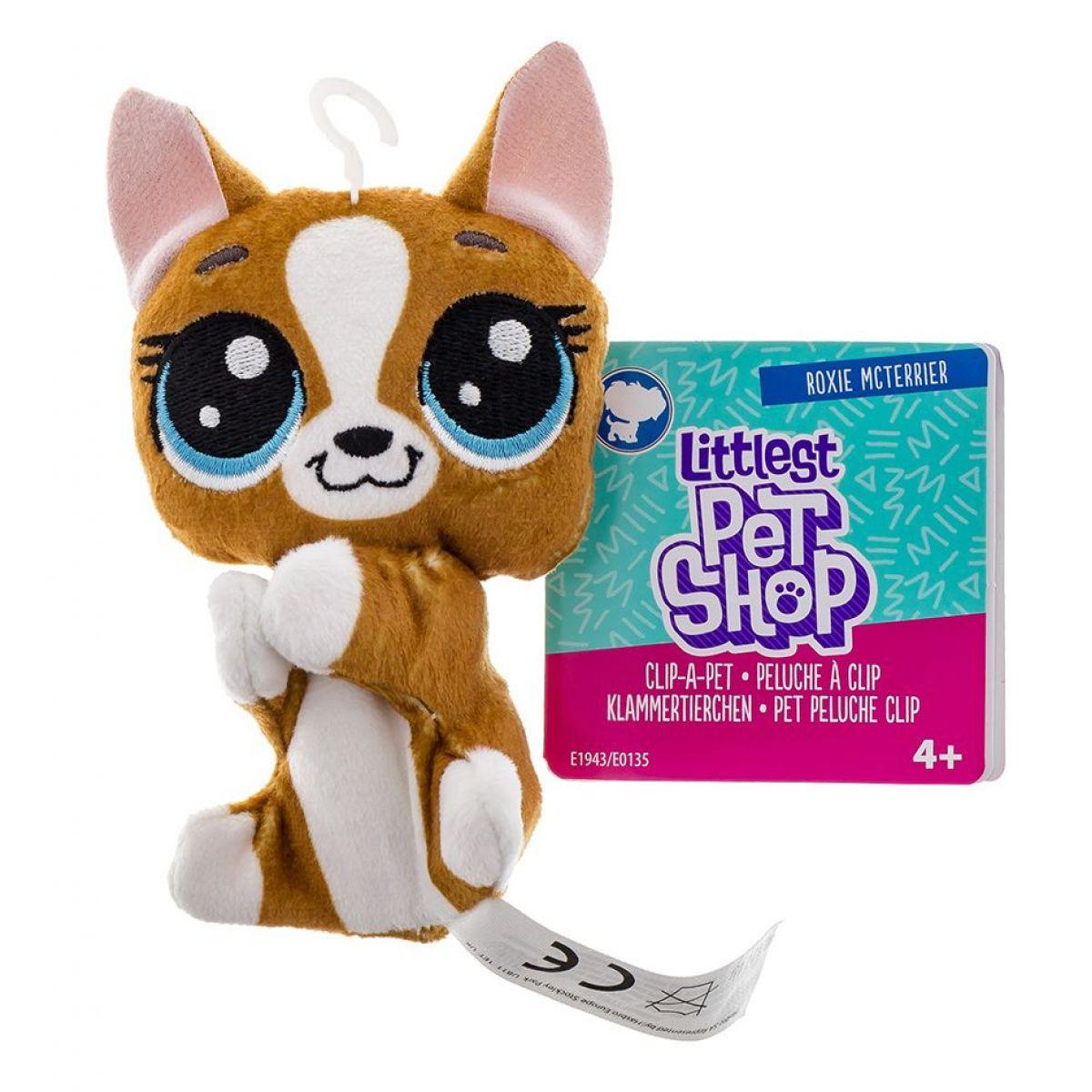 Littlest Pet Shop Plyšák s klipem Roxie Mcterrier