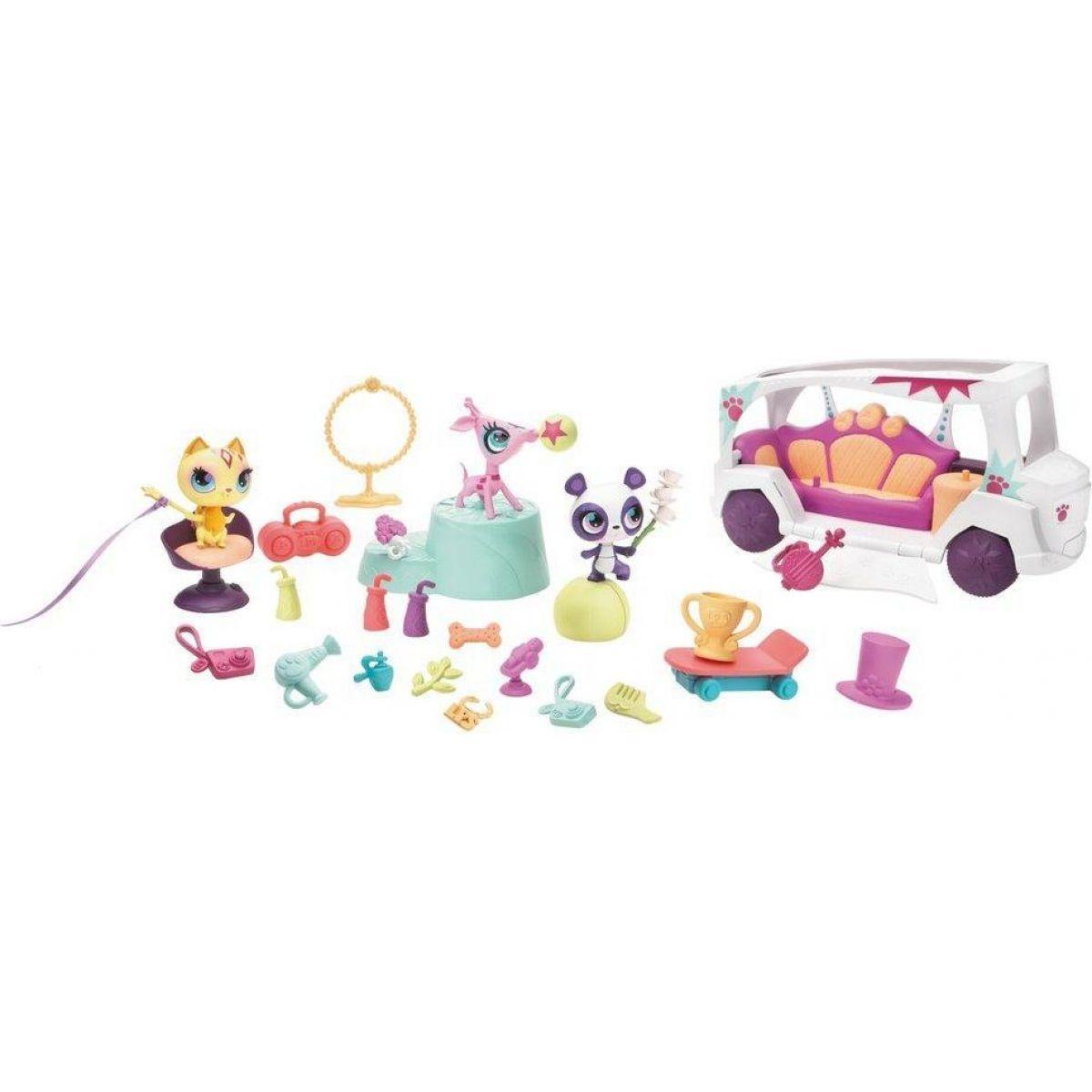 Littlest Pet Shop talentovaná zvířátka s limuzínou