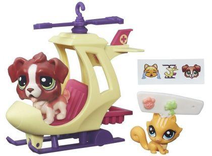 Littlest Pet Shop Zvířátko s kamarádem a vozidlem - B7754
