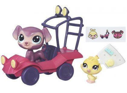 Littlest Pet Shop Zvířátko s kamarádem a vozidlem - B7757