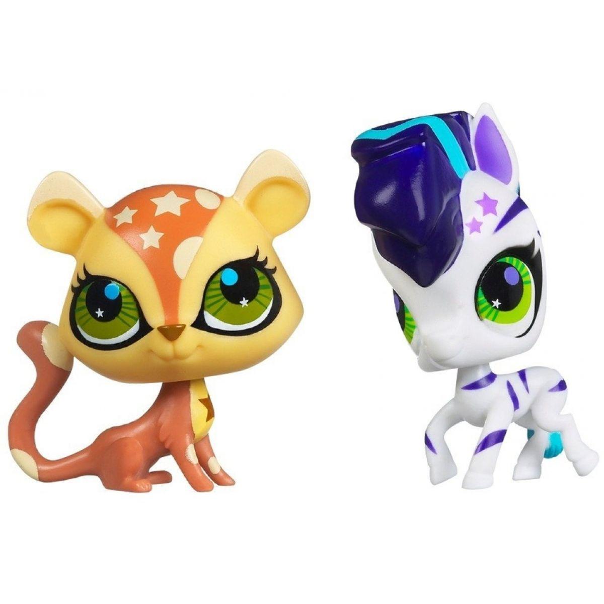Littlest Pet Shop zvířátka - 2856 Zebra 2857 Gepard