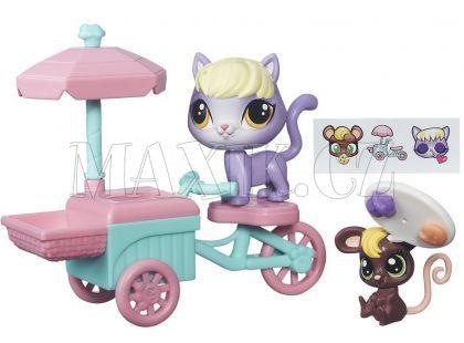 Littlest Pet Shop Zvířátko s kamarádem a vozidlem - B7756