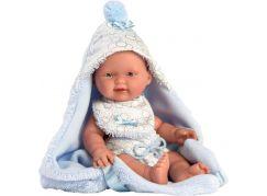 Llorens 26307 New born chlapeček realistická panenka miminko s celovinylovým tělem 26 cm
