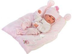 Llorens 63556 New born holčička realistická panenka miminko s celovinylovým tělem 35 cm