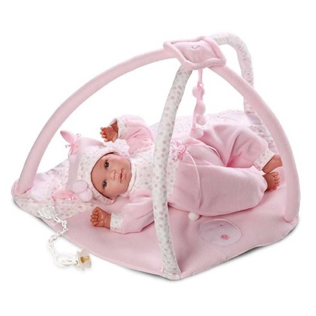 Llorens 63614 Panenka New Born s hrací dekou