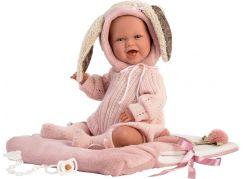 Llorens 74010 New born realistická panenka miminko se zvuky a měkkým látkový tělem 42 cm