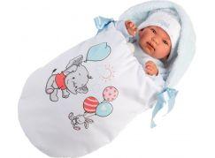 Llorens 84451 New born realistická panenka miminko se zvuky a měkkým látkový tělem 44 cm